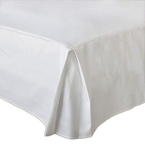 MUZIDP Polyester-Baumwolle bettrock,Elastischen Falten Staub Hotel bettwäsche extra-Weiß 180x200x35cm(71x79x14inch)