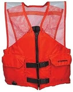 Flotation Vest, Orange, Nylon, 2XL