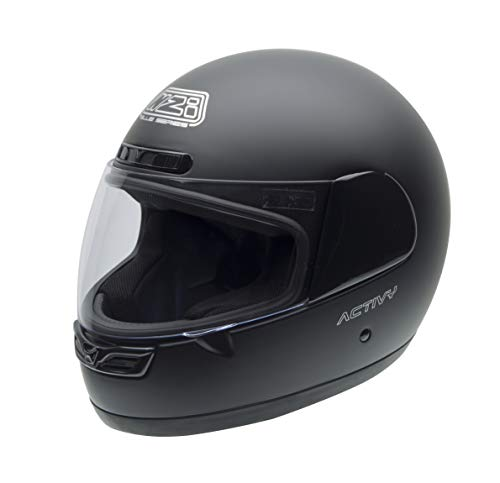 NZI Activy Motorradhelm 150244G093, Schwarz Matt, 60-61 (XL)