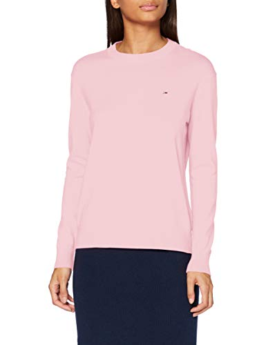 Tommy Jeans Damen Tjw Soft Touch Crew Sweater Pullover, Romantic Pink, S
