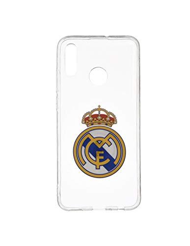 Wondee Global Services Carcasa Transparente con Escudo Color del Real Madrid Club de Futbol para Xiaomi RedMi Note 7 Pro