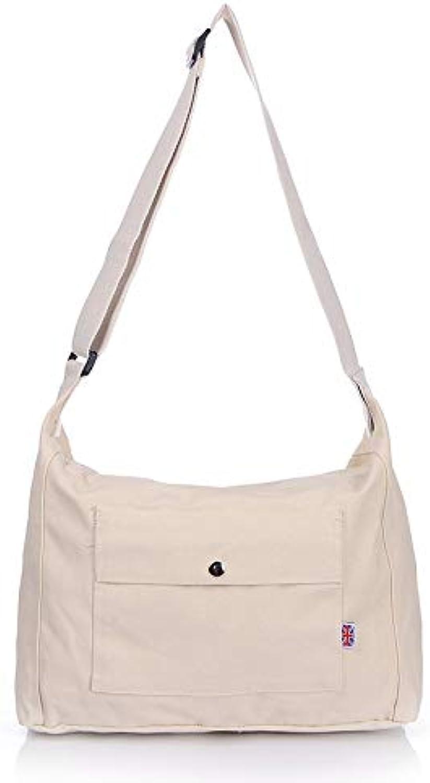 YNNB Freizeit Leinwand Frauen Bag, Einfache Damen Shoulder Bag Adjustable Crossbody Bag Wild Shopping Bag für Schularbeit Reisen und Daily B07PRF6LB5  Tragen Sie Ihr Grünrauen