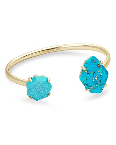 Kendra Scott Cynthia Cuff Bracelet for Women, Fashion Jewelry, 14k Gold-Plated, Blue Mix