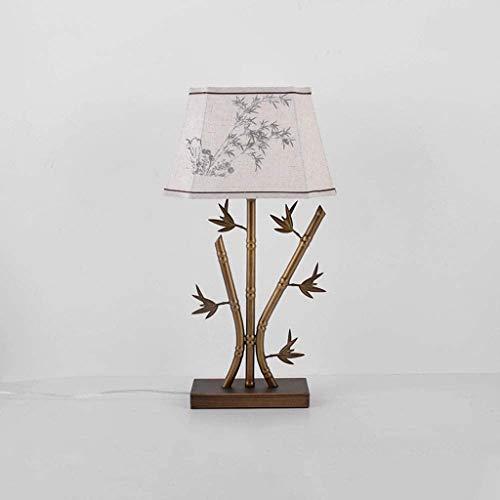 WZHZJ Romántica Creativa Lámpara de Mesa Retro Dormitorio lámpara de cabecera Moderna Simple Caliente de la lámpara de Mesa