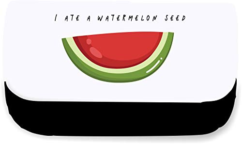 I Ate A Watermelon Seed Fruit and Vegetable Pun Jokes Clutch-Style Pencil case - Black