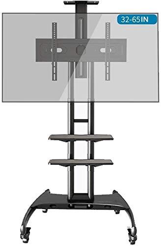 WEIJINGRIHUA Universal giratoria Soporte for TV, TV móvil del Carro con 2 Capas de la Bandeja Principal de visualización de la Carretilla de electrificación for 32-65IN (Color : #2)