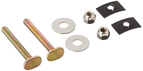 DANCO Brass Closet Bolts with Nuts and Washers Toilet Bolt Set, 1/4 inch x 2-1/4 inch, Brass, 2-Set (80156)