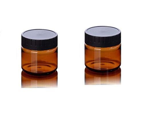 2pcs 100 ml en plastique ambre cosmétique crème lotion pot pot de bouteille contenant le bouchon à visser pour crème onctueuse huiles essentielles lotion apothicaire