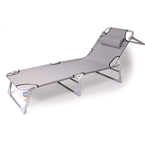 WJJJ Silla Chaise Longue Tumbona reclinable Sillón de relajación Piscina Zero Gravity Sillón Plegable Patio Ajustable Camping Cámping de Bronceado