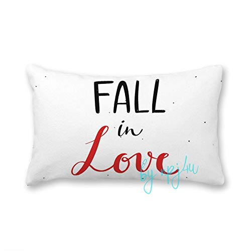 Happy Valentines Day Modern Lettering Cushion Covers Rectangular 30x50 Canvas Cushions Case Throw Pillow Case Cover for Home Sofa Bed Car