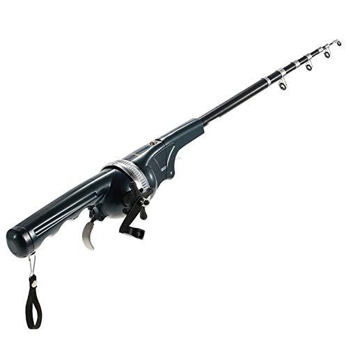 Docooler 133cm Faltbare Mini Angelrute/Fischen Pole/Tragbare Angelrute mit Angelrolle