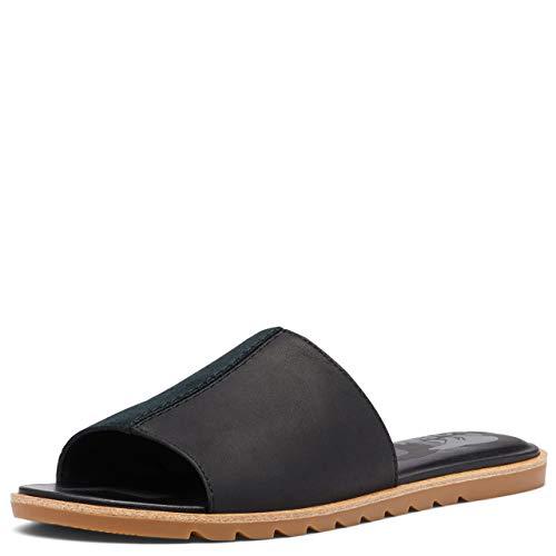 Sorel Ella II Block Slide Sandals for Women - Black - Size 5.5