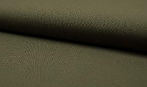 Canvas -uni/effen - per meter - Öko-Tex - 0,25 m - 315 g/m Webware- katoen olijfgroen