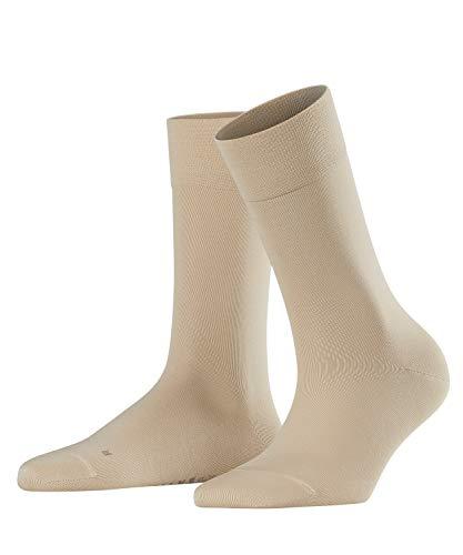 FALKE Damen Socken Sensitive Granada - Baumwollmischung, 1 Paar, Elfenbein (Cream 4019), Größe: 39-42