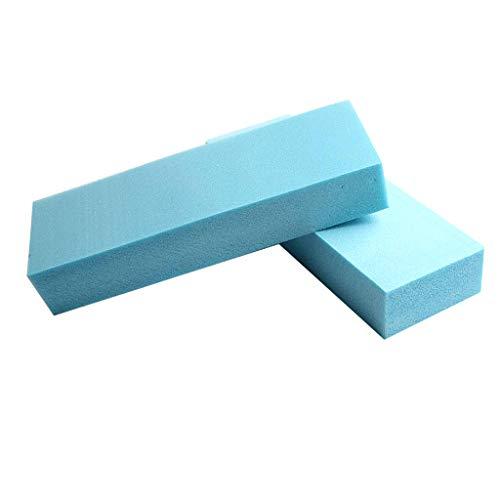 Fenteer 5 Pièces Panneau de Mousse de Haute Densité Polystyrène Plaque de Base Modèle Plate-Forme - Bleu - 29.5x10x5 cm