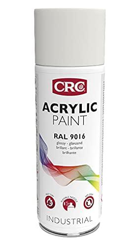 RC2 Corporation CRC 11683-AA - ACRYLIC PAINT. Pintura acrílica alto brico. Secado rápido. RAL 9016 blanco y negro tráfico 400 ml