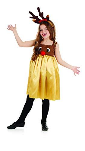 Fun Shack Oro Reno Disfraz para Niñas - S