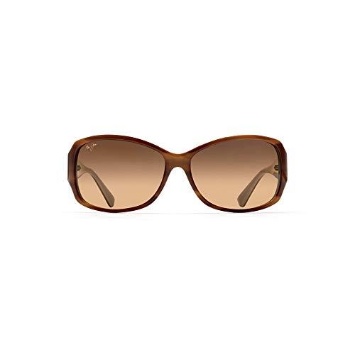 Maui Jim Sunglasses | Nalani HS295-03T, Tortoise with White, with Patented PolarizedPlus2 Lens Technology
