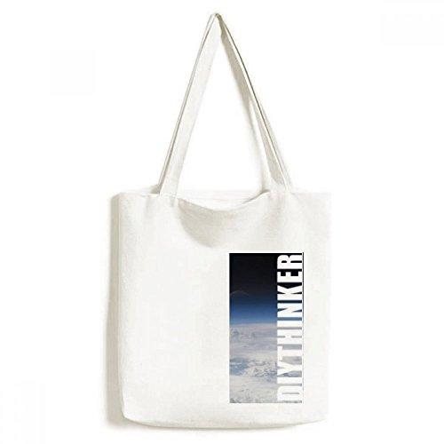 DIYthinker Weiße Wolken Schicht Atmosphere-Tasche Einkaufstasche Kunst Waschbar 33cm x 40 cm (13 Zoll x 16 Zoll) Mehrfarbig