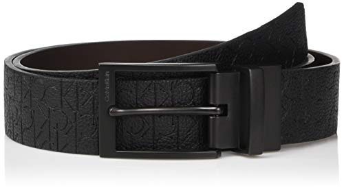 Calvin Klein Men's 35mm Reversible Embossed Logo Belt, black, 40