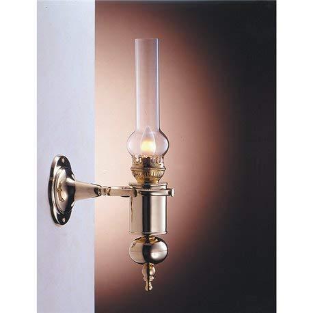Wandleuchte Messing Glas Jugendstil stilvoll GRETA Petroleumlampe elektrisch E14 Flur Treppenhaus