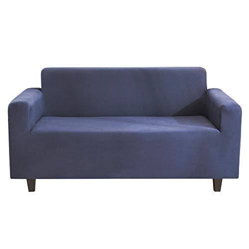 Homeen Stretch Protege Sofa,Couvercle de poussière de canapé 2/3/4 Places,étudie Couvre-siffaires de canapé Anti-faute pour la Salle à Manger/de Repos-Marine_2 Places (145-185 cm)