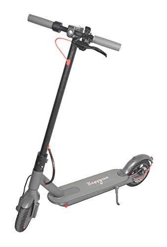 Happyrun Scooter eléctrico portátil de 35 km de largo alcance, 25 km/h, velocidad máxima plegable, con neumáticos sólidos de 8,5 pulgadas