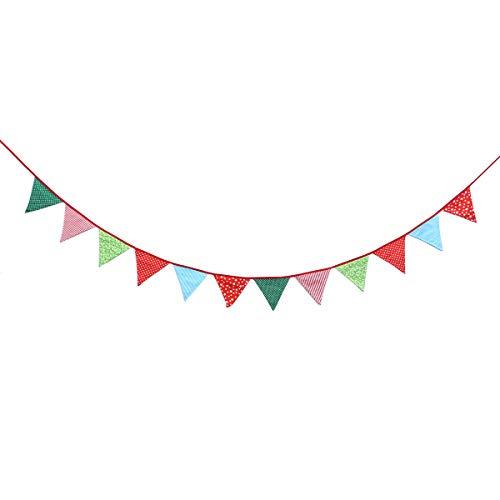 Vosarea Triángulo Banderas Decoración Triángulo Bunting Guirnalda Dots Estrellas Rayas Flores Imprimir para la Boda Cumpleaños Baby Shower Graduación 3M