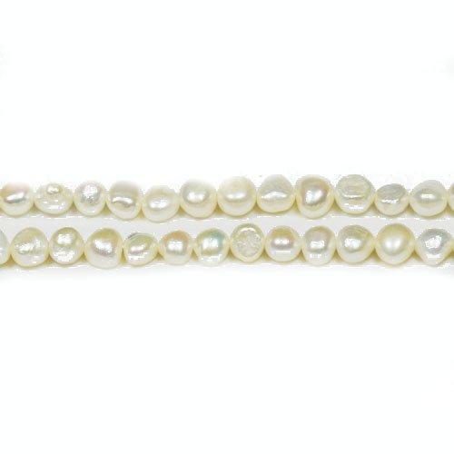 Charming Beads Strang 90+ Blasse Cremefarben Süßwasser-Perlen 2-4mm Barock Kartoffel Perlen FP1679-1