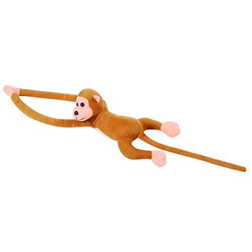 Ogquaton Animal de Peluche Lindo Brazo Largo Cola Mono Juguete de Peluche Mascota decoración de Cortina de habitación - marrón
