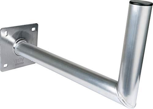 SCHWAIGER -5156- Halterung für Satelliten-Schüssel/SAT-Antenne/Satelliten-Anlage/SAT-Schüssel/Wand-Halter mit Winkel aus Aluminium/TÜV-geprüft/Wandabstand 45 cm