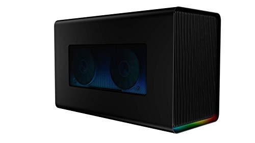 Razer Core X Chroma Thunderbolt 3 Boîtier de carte graphique externe (Egpu) pour Windows 10 et Mac - Solution graphique externe pour ordinateurs portables avec éclairage chromatique RGB