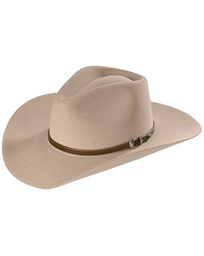 Stetson Men's 4X Buffalo Felt Seneca Western Hat Silver Sand 7 3/4
