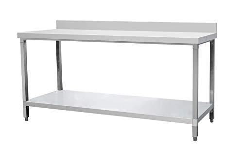 Edelstahltisch Arbeitstisch Küchentisch Edelstahl mit Aufkantung 120 cm,150 cm, 180 cm Zerlegetisch, Edelstahltisch:Tisch mit Aufkantung 180