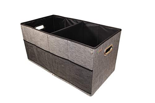 Fabric Collapsible Storage Basket Foldable Storage Box organizing Container Cloth Closet Office Nursery Baby Toy Towel Laundry car Trunk Organizer Grey Black 13x13x26 inch Large Box Organizer
