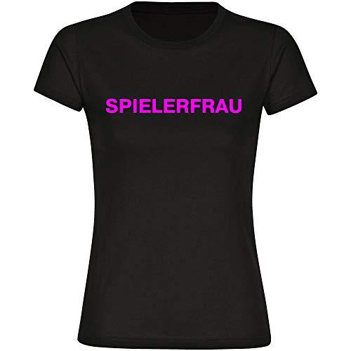 T-Shirt Spielerfrau schwarz Damen Gr. S bis 2XL - Lustig Witzig Fun Gag Sprüche Party Geschenk Funshirt