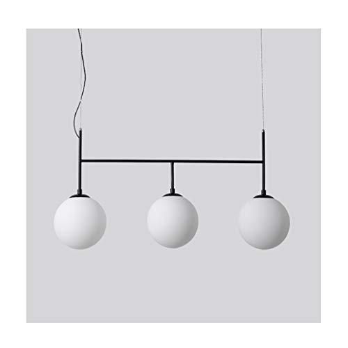 Lámpara LED de techo / candelabro de araña, Nordic Restaurante, Salón, Dormitorio, Noche, Creativa bola de cristal de hierro forjado, lámpara colgante decorativa, nivel de energía 【A ++】