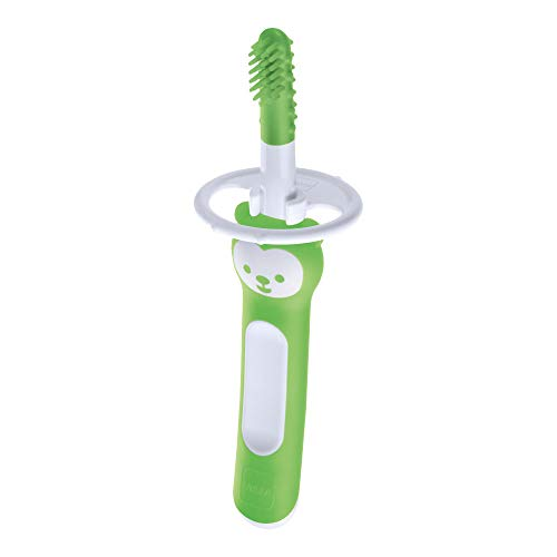 MAM Massaging Brush ZEDMM702N Spazzolino per la Pulizia della Cavità Orale del Bambino , 3+ Mesi, Verde