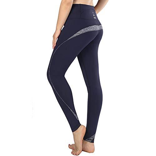 NIGHTMARE Leggings de Yoga Pantalón de Mujer Pantalones de Yoga Florales Pantalones Holgados de salón Entrenamiento Mallas para Correr Estiramiento L