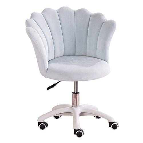Swivel Office Chair Pink Office Chair Ergonomic Desigm Mid Back Lumbar Support Adjustable Desk Chair Five Star Steel Foot Stand and Mute Caster Adjustable Home Desk Chair
