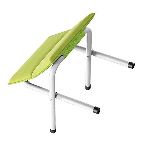 YuuHeeER Sun - Taburete plegable otomano para sofá, taburete de madera para zapatos, color verde ⭐