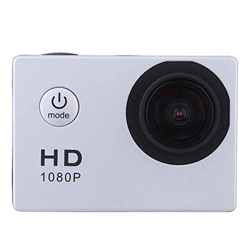 WFDG Sport-Action-Kamera im Freien 30M wasserdicht 720P HD Mini Unterwasserkameras Video Recording Helm Extreme Profi Cam F11.16C (Color : Silver)