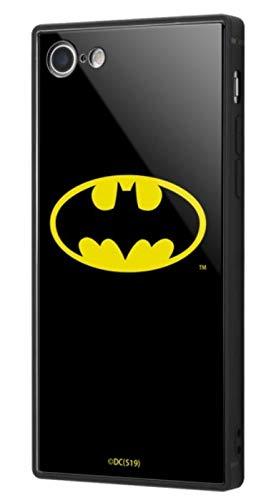 バットマン iPhone SE(第2世代) / iPhone 8 / iPhone 7 ハイブリッド ケース カバー KAKU 耐衝撃 衝撃吸収 [ ストラップ ホール 付き 通し穴 ] スクエア 軽量 かわいい オシャレ バットマンロゴ IQ-WP7K1