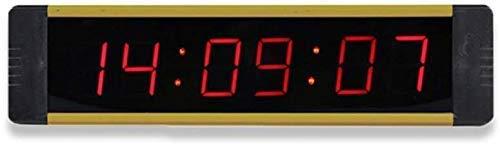 MNBVC Digitaler Wecker LED Intervall Timer Anzahl Training Timer Fitnessstudio Boxen Stoppuhr LED Wanduhr Für Fitness Mit Fernbedienung LED Digitaler Timer
