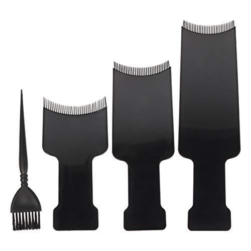 Lurrose 4 Stück Balayage Board Und Bürste Haarfärbemittel Hervorhebungsboard Salon Haar Bleichbürste Kunststoff Haartönung Werkzeuge für zu Hause Friseurladen