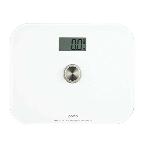 ツカモトエイム ポルト 電池のいらないエコ体重計 Lサイズ(ホワイト) AIM-WS01(WT)