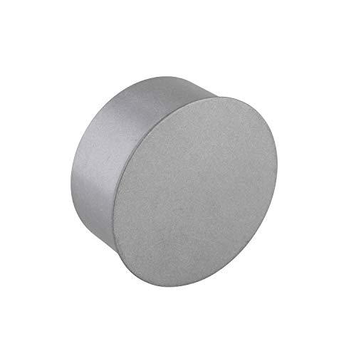 Rohrkapsel aus verzinktem Stahl, feueraluminiert (FAL), Kaminverschluss mit Isolierung, Verschluss für alle gängigen Ofenrohre, Ofenlochdeckel für Rohre, geprüft nach EN 1856-2, Durchmesser: (Ø 80 mm)