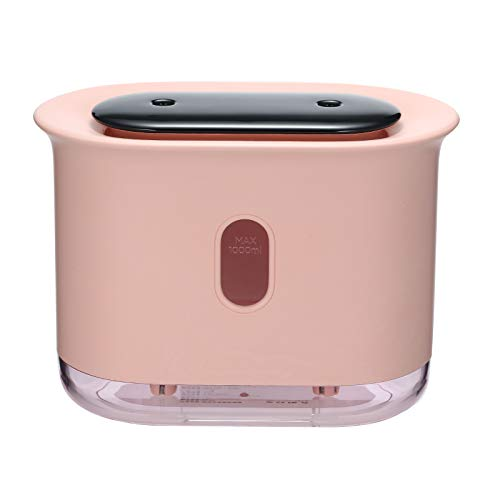 Decdeal 1000 ml Humidificador de Ventilación de Pulverización de Niebla Doble Difusor de Aire de Fabricante de Niebla Fría Luces Nocturnas LED Batería Pantalla Digital