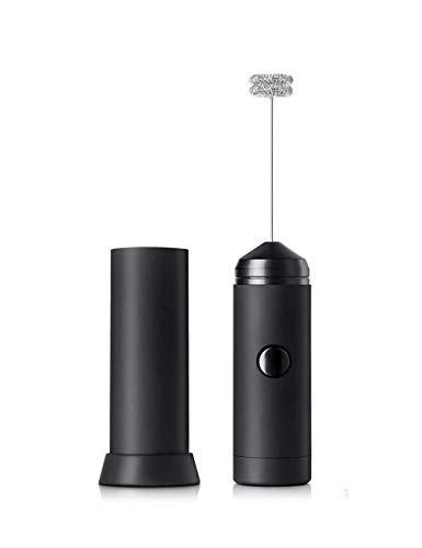 Elektrische melkopschuimer roestvrij staal, handheld op batterijen, whisk drankmixer, perfect voor latte koffie en cappuccino