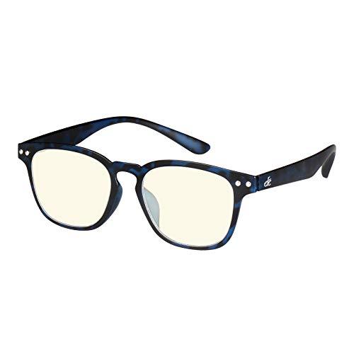 EFE Gafas para Mujeres Hombres Unisex Anti Luz Azul de Flexible Bisagra de Resorte rectángulo Estilo Diseñador Ligeros Cómodos para Antifatiga Azul